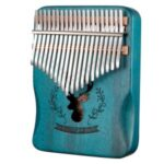 Kalimba 20 Keys Thumb Piano Mahogany Wood Musical Instrument – Blue
