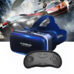 VR Glasses Mobile Phone Virtual Reality G04 Wearing Game Smart 3D Digital Glasses + D01 Bluetooth Handle
