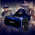 VR Glasses Mobile Phone Virtual Reality G04 Wearing Game Smart 3D Digital Glasses + D03 Bluetooth Handle