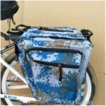 Bicycle Bag Mountain Bike Bicycle Rack Riding Equipment Camouflage Double Pack – Blue