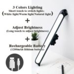 Eye Protecting Study Desk Lamp for Student Dormitory-Black/Non – polar Dimming Style