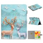 Pattern Printing PU Leather Card Holder Stand Tablet Cover for iPad 9.7-inch (2018)/(2017) / iPad Air 2 / iPad Air (2013) – Elk