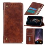 Phone Shell Auto-absorbed Wallet Leather Case for iPhone 12 5.4 inch – Brown