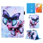 Pattern Printing Stand Leather Card Slots Tablet Cover for iPad 10.2 (2019)/Air 10.5 inch (2019) – Butterfly