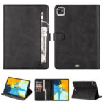 Zipper Pocket Leather Tablet Cover for iPad Pro 12.9-inch (2020)/(2018) – Black