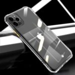 LEEU DESIGN Shockproof Transparent Hard Acrylic + TPU Phone Case for iPhone 11 Pro Max 6.5-inch – Gold
