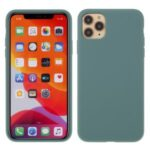 BX Ultra-thin Liquid Silicone Cover for iPhone 11 Pro Max 6.5 inch – Midnight Green
