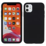 BX Ultra-thin Liquid Silicone Phone Shell Case for iPhone 11 6.1 inch – Black