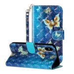 Light Spot Decor Pattern Printing Wallet Stand Leather Phone Case for iPhone X/XS 5.8 inch – Butterfly