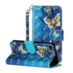 Light Spot Decor Pattern Printing Wallet Stand Flip Leather Case for Apple iPod Touch 6/5 – Butterfly