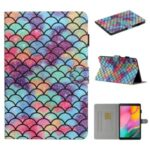 Pattern Printing Card Holder Leather Tablet Cover for Samsung Galaxy Tab A 10.1 (2019) T510/T515 – Fish Scale