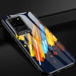 Patterned Tempered Glass + TPU Case with Metal Lens Cover for Samsung Galaxy S20 Ultra – Style A