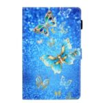 Pattern Printing Card Slot Flip Leather Cover for Samsung Galaxy Tab A 8.4 (2020) SM-T307 – Metal Butterflies