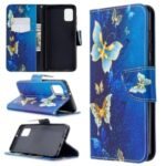 Pattern Printing Wallet Stand Flip Leather Phone Shell for SamsungGalaxy A31 – Metal Butterflies