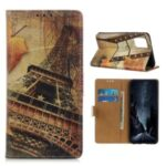 Pattern Printing PU Leather Wallet Stand Phone Case for Samsung Galaxy Note 20 – Eiffel Tower