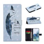 Light Spot Decor Pattern Printing Wallet Leather Protective Shell for Samsung Galaxy A71 SM-A715 – Feather and Bird