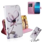 Pattern Printing Wallet Leather Case Stand Phone Covering with Lanyard for Sony Xperia L4 – Beautiful Flowers