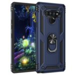 Ring Kickstand Armor Case PC+TPU Combo Mobile Shell for LG Stylo 6 – Blue