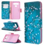 Pattern Printing Stand Leather Wallet Mobile Case for LG K61 – Tree with Flowers