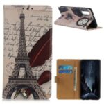 Pattern Printing PU Leather Wallet Stand Phone Shell for Huawei Enjoy 10s – Tower