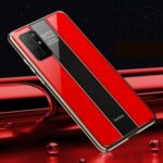 Luxurious Phone Case for Huawei Honor 30S PC + TPU Phone Shell – Red