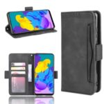Magnetic PU Leather Cool Shell with Multiple Card Slots for Honor Play 4T – Black