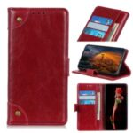 Nappa Surface Unique Wallet Leather Shell for Honor 9X Lite – Red