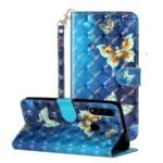 Light Spot Decor Wallet Stand Leather Pattern Printing Cover for Huawei P Smart Z/Y9 Prime 2019 – Butterfly