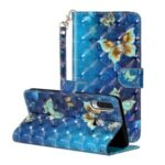 Light Spot Decor Wallet Stand Pattern Printing Leather Cover for Huawei P30 Lite – Butterfly