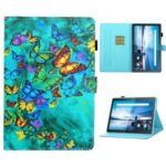 Pattern Printing Card Slots Stand Leather Case for Lenovo Tab M10 TB-X605F/M10 Plus TB-X606F – Butterflies