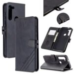 Leather with Wallet Cover with Lanyard for Motorola Moto G8 – Black