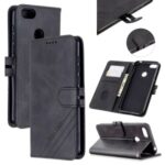Leather Stand Phone Cover with Lanyard for Motorola Moto E6 Play – Black