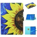 Pattern Printing Card Slots Stand Flip Leather Protective Case for Lenovo Tab M10 TB-X605F/M10 Plus – Sunflower