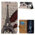 Pattern Printing PU Leather Wallet Stand Phone Shell for Xiaomi Redmi Note 9 / Redmi 10X 4G – Tower