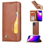 PU Leather Auto-absorbed Unique Shell for Xiaomi Mi 10 Lite 5G/Mi 10 Youth 5G – Brown