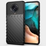 Thunder Series Twill Texture Cover Soft TPU Phone Case for Xiaomi Redmi K30 Pro/Poco F2 Pro – Black