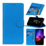 Litchi Skin Magnetic Stylish Leather Shell for Xiaomi Redmi 9 – Blue