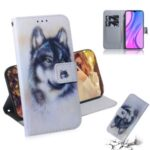 Pattern Printing PU Leather Wallet Stand Mobile Case for Xiaomi Redmi 9 – Wolf