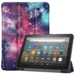 Pattern Printing PU Leather Tri-fold Stand Tablet Case for Amazon All-new Fire HD 8 (2020) – Cosmic Space