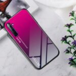 Gradient Color Tempered Glass + PC + TPU Hybrid Case for Realme 6 Pro – Rose Red