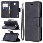 Wallet Stand PU Leather Phone Protection Case for Nokia 1.3 – Black