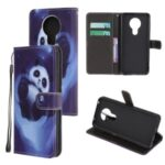 New Pattern Printing Cross Texture Leather Wallet Case for Nokia 5.3 – Panda
