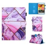 Pattern Printing Universal Leather Case with Card Slots for 7-inch Tablet – Geometric Pattern