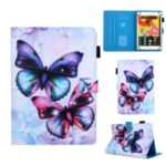 Pattern Printing Universal Leather Shell with Card Slots for 10-inch Tablet – Butterfly