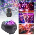 Starry Sky Projection Lamp Bluetooth Music Player USB Charging LED Night Light with Remote Control