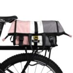 RHINOWALK X2002 Bike Bag Postman Pannier Bag Rear Seat Bag Rack Trunk Bag Shoulder Bag – Pink