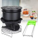 8PCS Air Fryer Accessories Home Kitchen Stainless Steel Multi – purpose Cooking Tool Kits