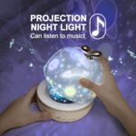 Starlight Lamp Projector Night Light Bedside Creative Rotating Music Box
