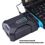 Portable USB Cooler Air External Extracting Cooling Fan Base Radiator for Notebook Laptop