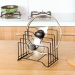 Pot Lid Holder Pot Lid Spoon Holder Kitchen Organizer Storage Soup Spoon Leftovers